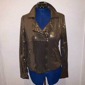 Fredricks of Hollywood gold sequins jacket